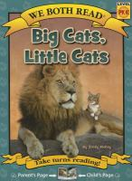 We Both Read-Big Cats, Little Cats