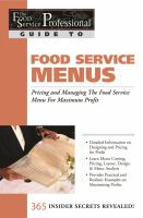 Food Service Menus