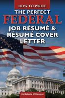 How to Write the Perfect Federal Job R¿̐usum¿̐u & R¿̐usum¿̐u Cover Letter