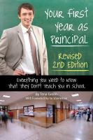 Your First Year as Principal Revised 2nd Edition