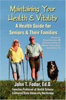 Maintaining your Health and Vitality