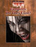 Vampires, Do They Exist?
