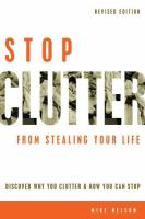 Stop Clutter from Stealing your Life book cover