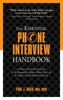 The Essential Phone Interview Handbook