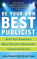 Be your Own Best Publicist