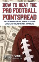 How to Beat the Pro Football Pointspread