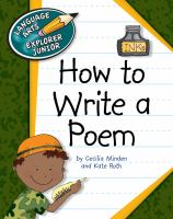 How to Write A Poem