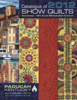 Catalogue of 2012 Show Quilts