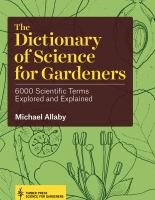 The Dictionary of Science for Gardeners