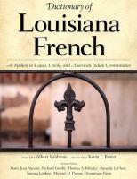 Dictionary of Louisiana French