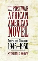 Postwar African American Novel