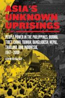 Asia's Unknown Uprisings