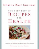 The Very Best of Recipes for Health