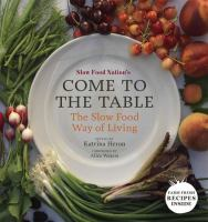 Slow Food Nation's Come to the Table