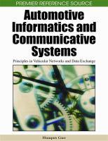 Automotive Informatics and Communicative Systems