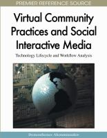 Virtual Community Practices and Social Interactive Media