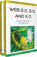 Handbook of Research on Web 2.0, 3.0, and X.0