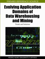 Evolving Application Domains of Data Warehousing and Mining