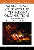 Data-exchange Standards and International Organizations