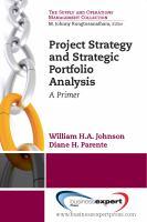 Project Strategy and Strategic Portfolio Analysis
