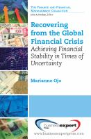 Recovering From the Global Financial Crisis