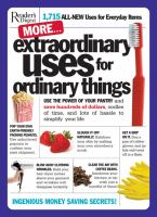 More-- Extraordinary Uses for Ordinary Things