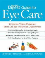 Reader's Digest Guide to Eye Care