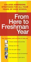 From Here to Freshman Year