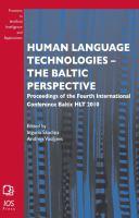 Human Language Technologies