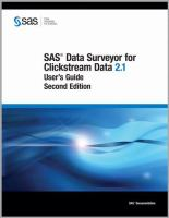 SAS Data Surveyor for Clickstream Data 2.1