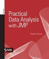 Practical Data Analysis With JMP