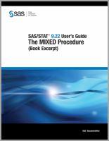 SAS/STAT 9.22 User's Guide