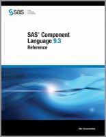 SAS Component Language 9.3