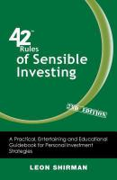 42 Rules for Sensible Investing