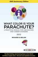 What Color Is your Parachute? 2012