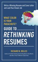 Image: What Color Is your Parachute? Guide to Rethinking Resumes