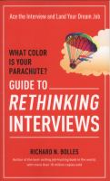 Image: What Color Is your Parachute? Guide to Rethinking Interviews