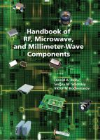 Handbook of RF, Microwave, and Millimeter-wave Components