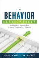 The Behavior Breakthrough