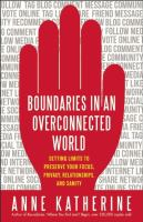 Boundaries in An Overconnected World