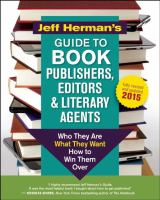 Jeff Herman's Guide to Book Publishers, Editors & Literary Agents 2015