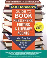 Jeff Herman's Guide to Book Publishers, Editors & Literary Agents