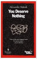 Image: You Deserve Nothing