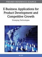 E-business Applications for Product Development and Competitive Growth