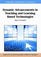 Dynamic Advancements in Teaching and Learning Based Technologies