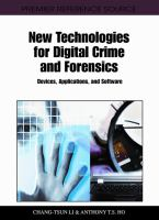 New Technologies for Digital Crime and Forensics