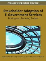 Stakeholder Adoption of E-government Services