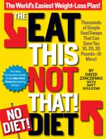 The Eat This, Not That! No Diet! Diet
