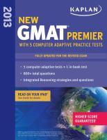 New GMAT Premier 2013