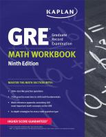 GRE, Graduate Record Examination, Math Workbook